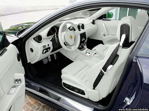 Ferrari 612 Scaglietti interior, via Flickr.