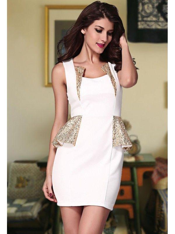La robe blanche ou dore