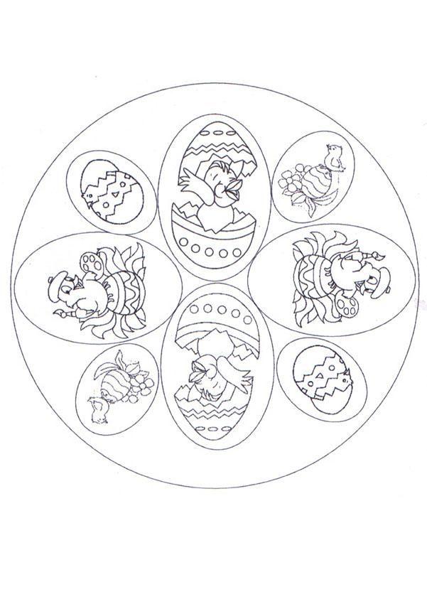 7 best mandalas for Easter images