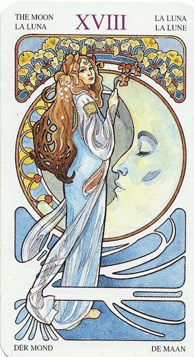 The Moon -  Art Nouveau tarot