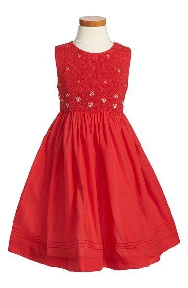 Luli & Me Smocked Sleeveless Dress (Toddler Girls, Little Girls & Big Girls) available at #Nordstrom