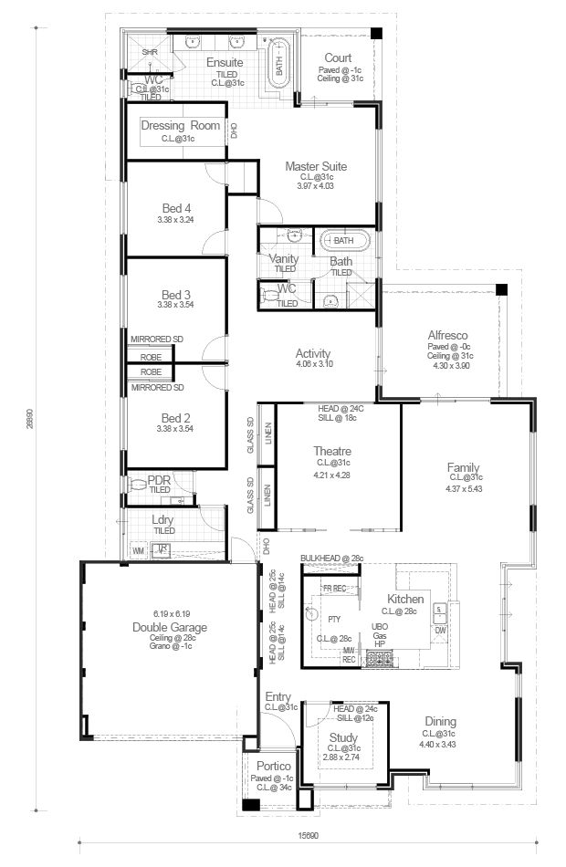 Red Ink Homes - Ocean Series - The Victoria - Floorplan - check out the pantry!