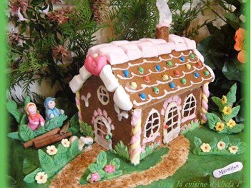 Recette de Bonhomme et maison en pain d'épices - Marmiton