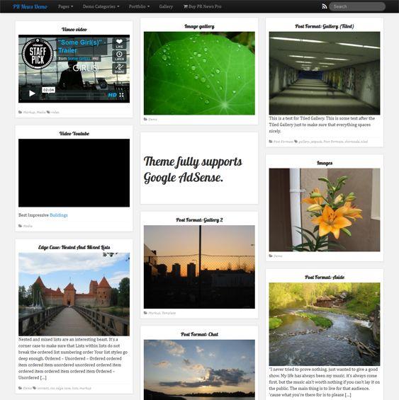 Masonry Gallery Theme Wordpress Free | Cartoonjdi.co