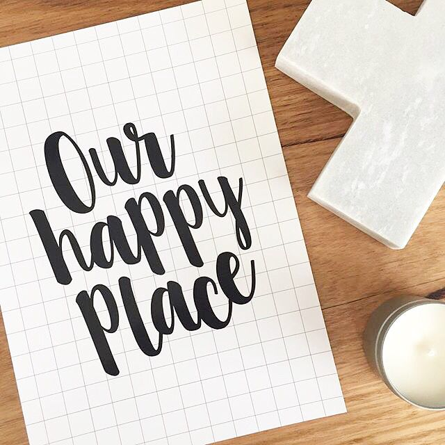 Our happy place print.