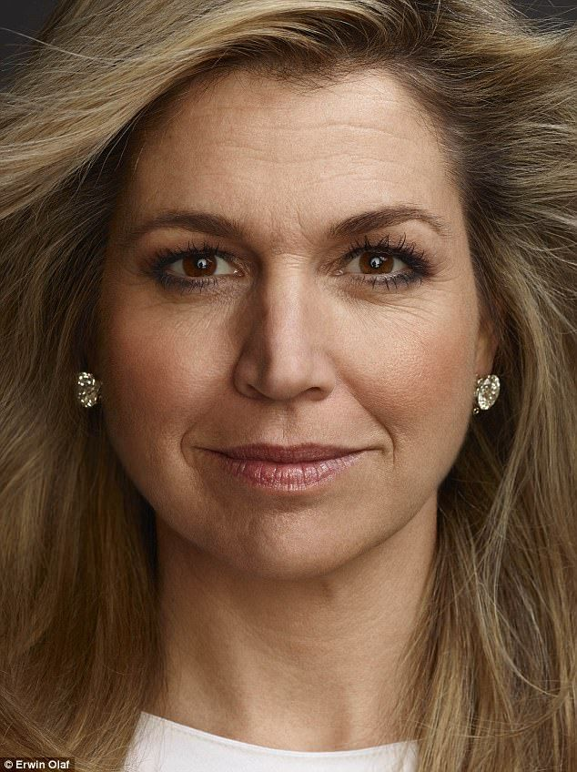 Portrait of a queen: Máxima stars alongside her three daughters in this new set of portraits from Erwin Olaf, released to coincide with King Willem-Alexander's 50th birthday this year
