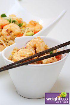 Garlic Prawn Fried Rice. #HealthyRecipes #DietRecipes #WeightLossRecipes weightloss.com.au