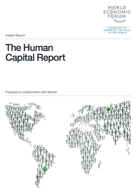 World Economic Forum in collaboration with Mercer issued a report which identifies the countries that are best positioned to contribute to effective workforce development, growth potential, and economic success. In 'The Human Capital Report' each country was measured against 51 factors in four distinct categories: Education; Health and Wellness; Workforce and Employment; and Enabling Environment.