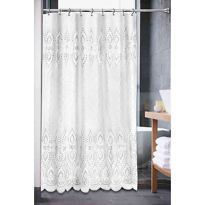 Monaco Shower Curtain In White Bed Bath Beyond In 2020