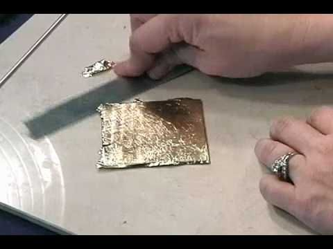Video: how to work with gold & silver leaf. #Polymer #Clay #Tutorials