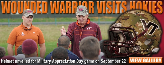 Hokies Support the Wounded Warrior program, special helmet to be worn in September game.