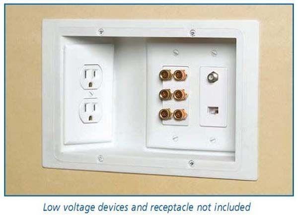 Utilize tomadas embutidas para que possa colocar os móveis contra a parede.