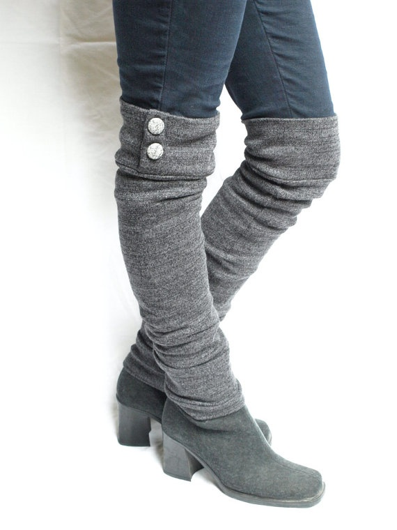 Leg warmers.: Legs Warmers, Future Fashion, Fashion Makeovers, Fabrics Projects, Knee Stockings, Yarns Ideas, Leg Warmers, Ellen Barry