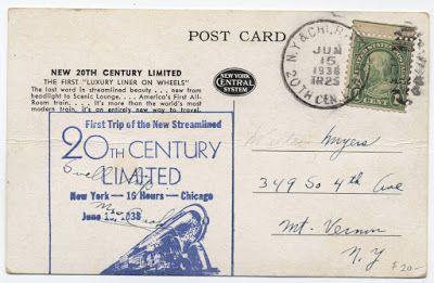 Sobre Filatelia y Ferrocarriles: Las 2-3-2 Hudson y el 20th Century Limited