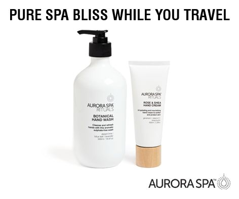 Rest and revive with a range of Aurora Spa Rituals products such as our Botanical Hand Wash and Rose & Shea Hand Cream now in Qantas Business Lounges in Sydney and Melbourne...  #Travel #spa #beauty #Qantas