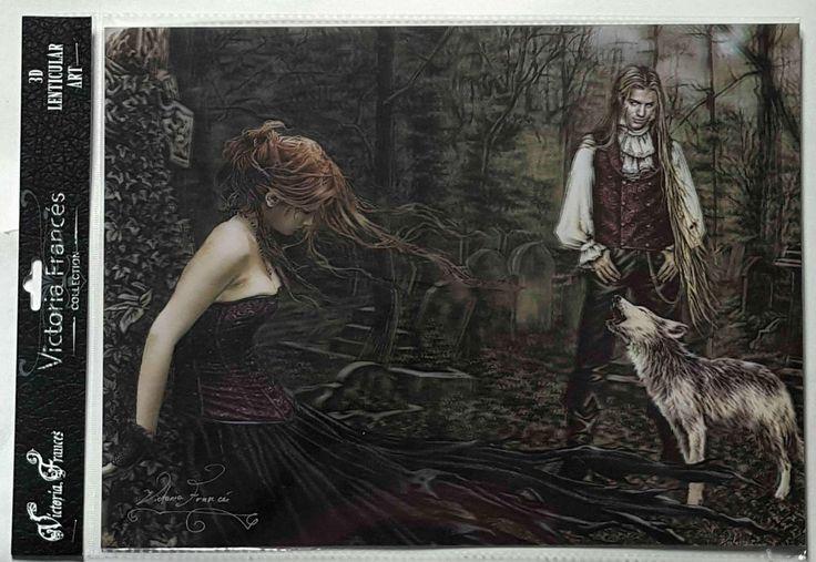 Brand New Licensed 3D Lenticular Victoria Frances MUSICA Vampire Gothic Art