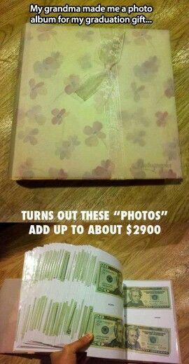 Money photo album doing this for Leo :)