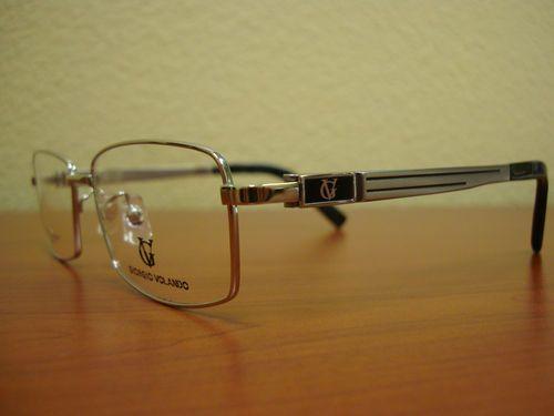 Georgio Volando Ultra Lite Men's Titanium Eyeglass Frame G13061-55 - Silver, Elegant & Stylish