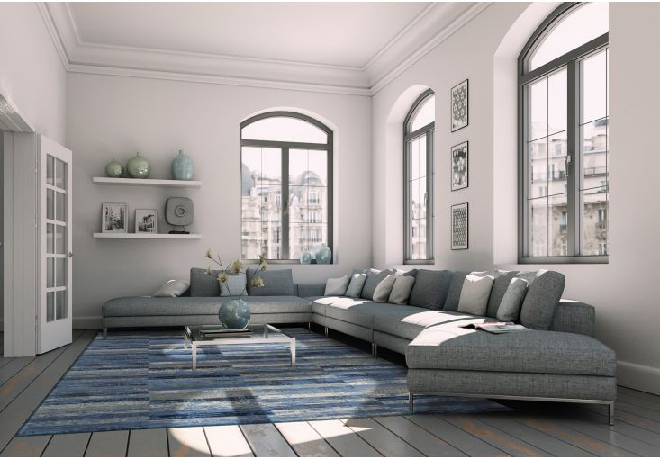Dywany Mosaiq :: Dywan naturalny vintage 8401 BlueJeans - niebieski - Carpets&More - wysokiej klasy dywany i akcesoria tekstylne