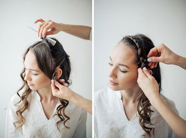 french crown braid tutorial Photography: Sergey Ulanov   more on www.bridetips.ru