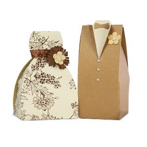 Tuxedo and dress combo - favor boxes