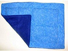 WEIGHTED LAP PAD Blue Cotton/Fleece AUTISM, Sensory OT WASHABLE SPD Mini Blanket Listed for charity
