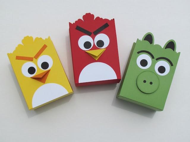 Bolsas graciosas para una fiesta Angry Birds / Fun treat bags for an Angry Birds party