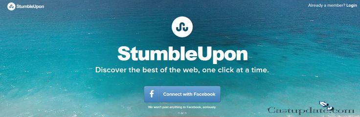 StumbleUpon Login / StumbleUpon Sign Up / Sign In StumbleUpon - click here to sign up account though LinkedIn, Facebook, Twitter, Google+, Instagram........