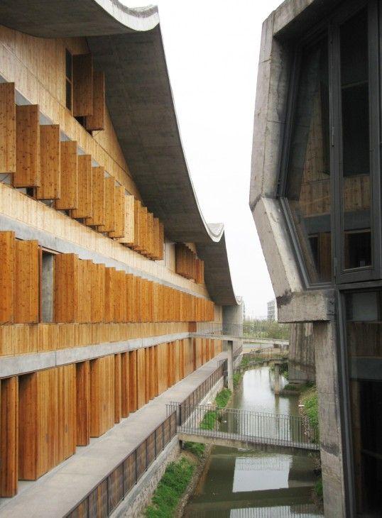 China Academy of Art, Hangzhou, China designed by Wang Shu of Amateur Architecture Studio :: Pritzker Prize 2012
