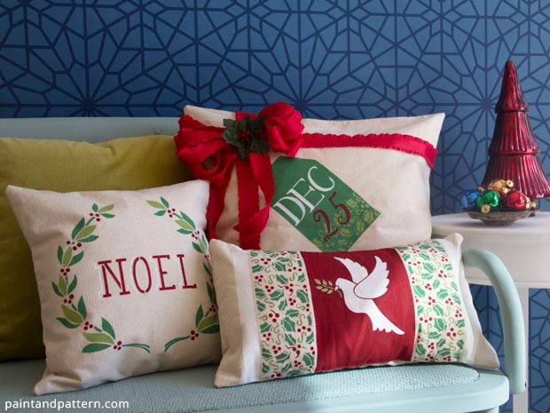 Hometalk :: Christmas Pillows :: Debbie @ Confessions of a Plate Addict's clipboard on Hometalk