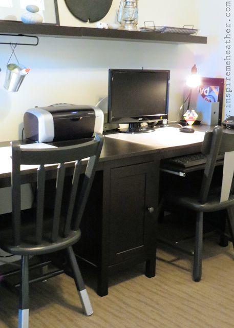 Ikea Hemnes Double Desk Hack Inspire Me Heather Blog