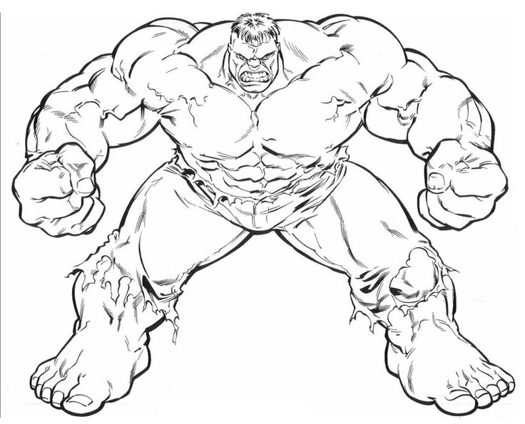Coloringsco The Hulk Coloring Pages