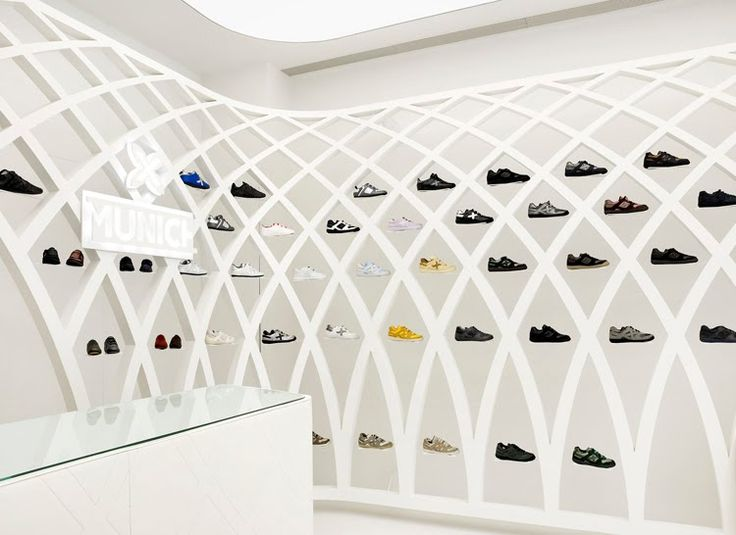 40 best images about luxury shoe shops on pinterest shoe for Sneaker wall display