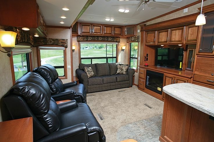 Best 25 fifth wheel living ideas on pinterest rv - 2016 luxury front living room 5th wheel ...