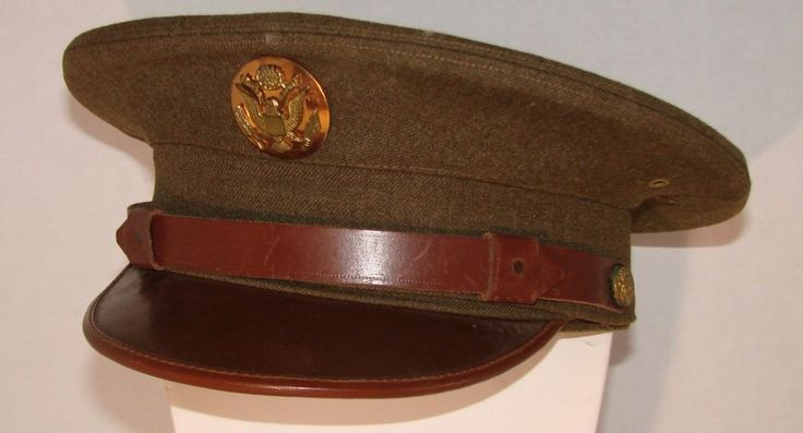 Vintage Military US Army Hat Visor Bancroft WWI or WWII Very Nice !!