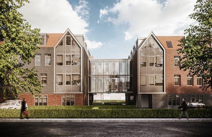 Overcast residential building AI on Behance