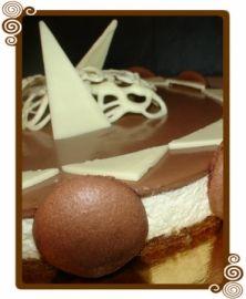 Bavarois au mascarpone vanillé et chocolat sur biscuit coco : la recette facile