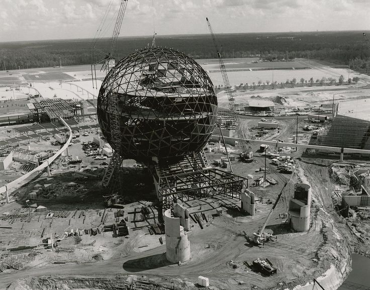 EPCOT Center Construction Photos: Future World - Imagineering Disney -