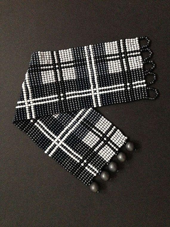 Loom bracelet pattern - Scottish tartan