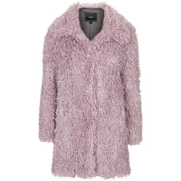 TOPSHOP De Fur Faux Fur Coat by Unreal Fur ($370) ❤ liked on Polyvore featuring outerwear, coats, jackets, topshop, pink, topshop coats, pink fur coat, purple fur coat, faux fur coat and pink faux fur coat