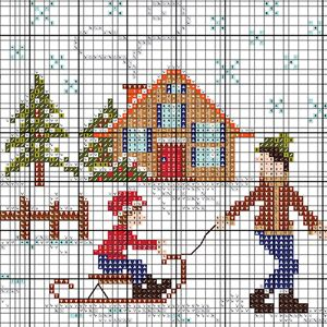 During the blizzard we have the perfect free winter cross stitch pattern and DIY…