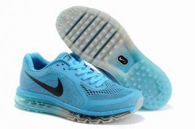 Nike Air Max 2014 Ejecución malla azul / negro / gris http://www.esnikerun.com/
