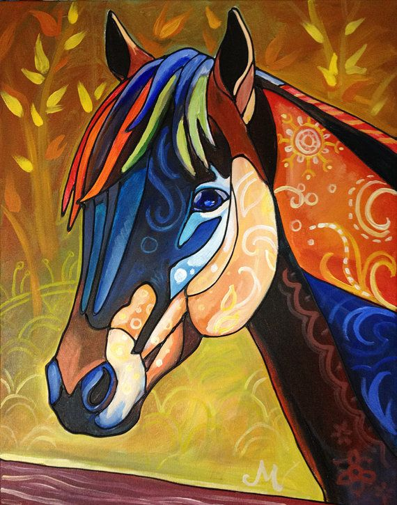 Fall Horse Art Reproduction PrintLarge by Morian on Etsy, $30.00 For all you horselovers out there. Isn't it beautiful? And goes for a good cause!