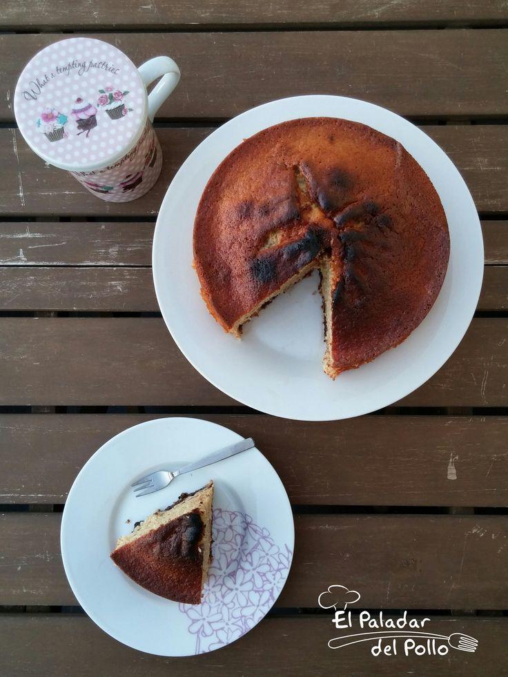 Bizcocho energético de plátano, chocolate y avellanas. http://goo.gl/HmiRte