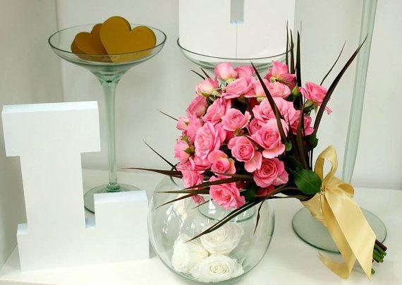 Buchet de Mireasa din Mini trandafiri roz by JuliasRoseShop