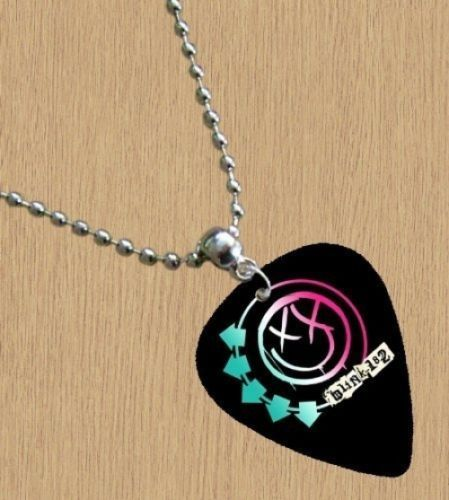 #Blink 182 (black) premium #guitar pick #necklace, View more on the LINK: http://www.zeppy.io/product/gb/2/112234519857/