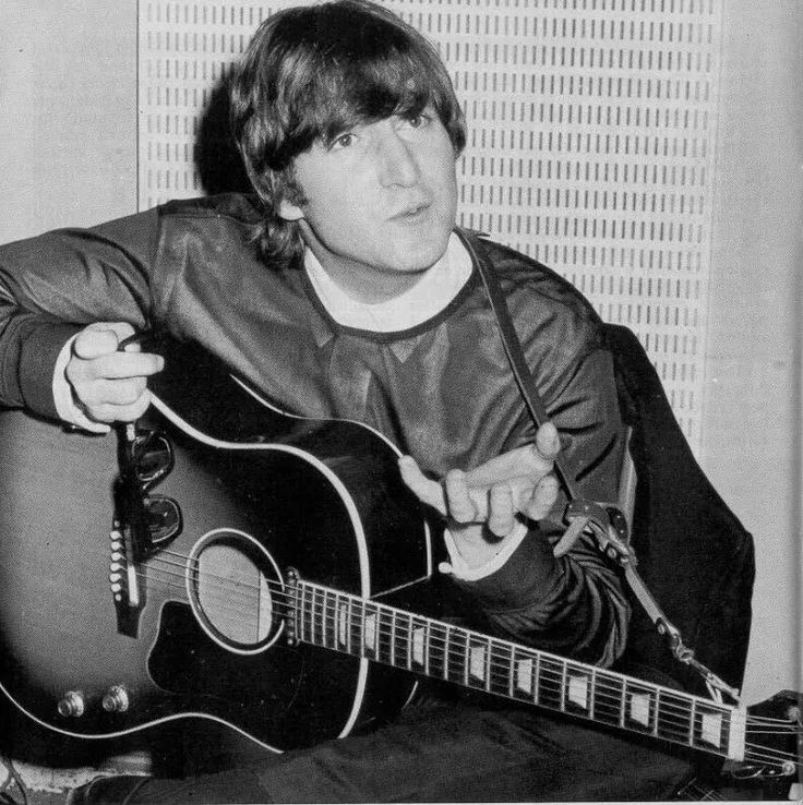 「john lennon plays guitar 1964 studio」の画像検索結果
