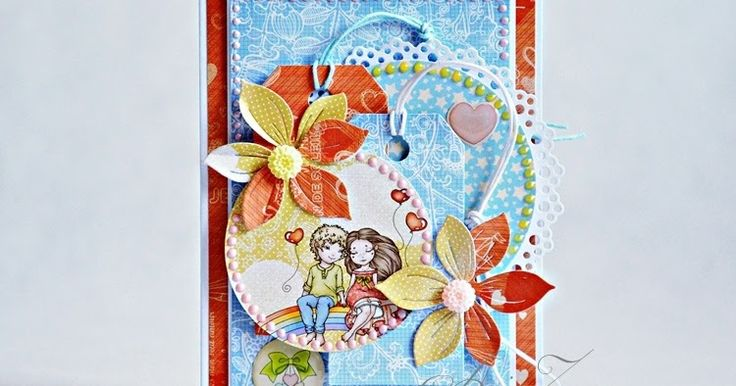 ScrapBerry's: Wonderful love card with our Sweetheart collection for Valentine's Day. Made by Anna Zaprzelska