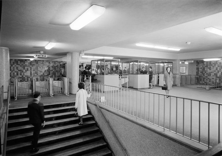 Maria Keil | Estação / Station Rossio | Metropolitano de Lisboa / Lisbon Underground | 1963 #Azulejo #MariaKeill #MetroDeLisboa