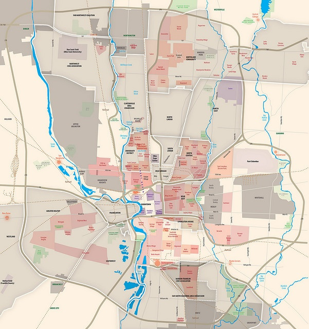 Detailed Map Of Columbus Ohio  Places I39ve Been  Pinterest